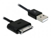 Delock iPhone USB Data and Charging cable 1.8m (Black) [82662]