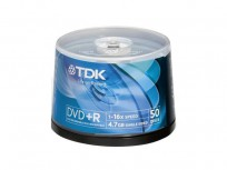 TDK DVD+R 50-Pack 16x (4.7GB) [DVD+R47CBED50]